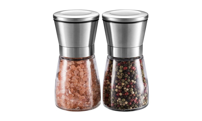 Vivo Glass Salt Amp Pepper Grin Groupon