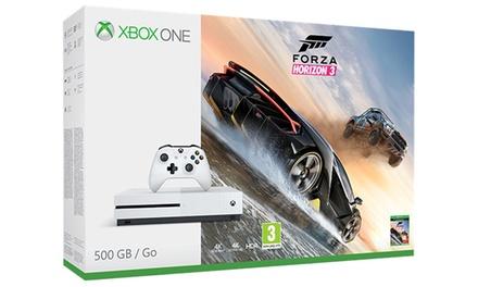 Xbox One S bianca 500GB e Forza Horizon 3 con scatola e manuale in italiano con spedizione gratuita