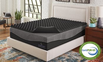 "Comfort Essentials 3"" Reversible Ebonite Memory Foam Topper"