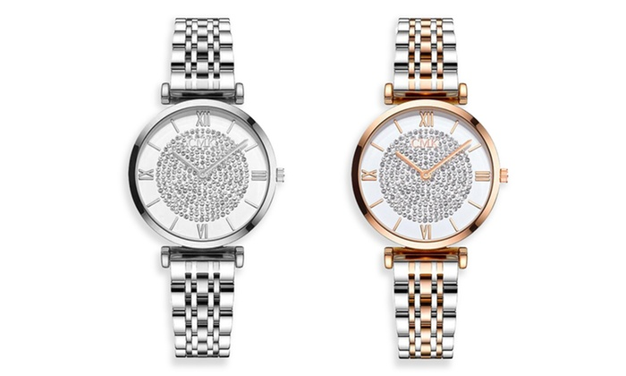 Elegant Watch with Crystals