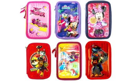 Astuccio portapastelli con 3 cerniere da 43 pezzi Disney disponibile in varie fantasie