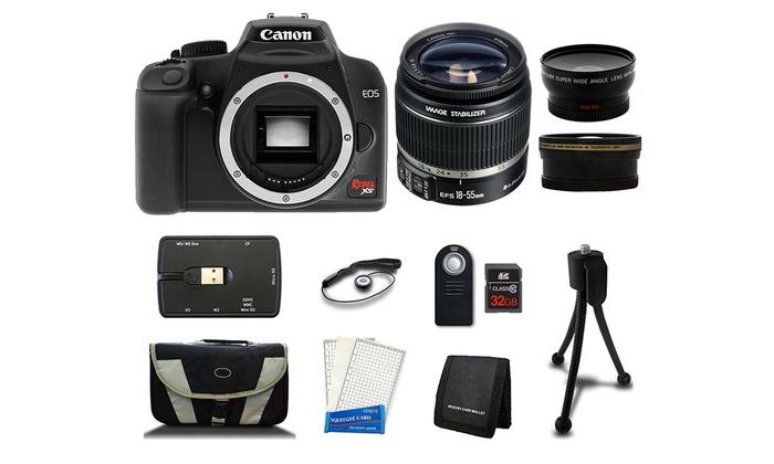 Canon EOS Rebel XS 10MP DSLR Camera Bundle (Manufacturer