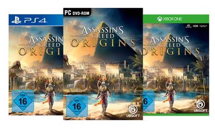 Ubisoft Assassins Creed Origins als reguläre oder Gold Edition für PC, PS4 oder Xbox One