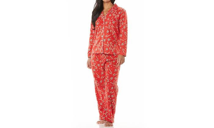 0bf88db67 Women s Micro Polar Fleece Printed Tailored PJ Set (Size XL)