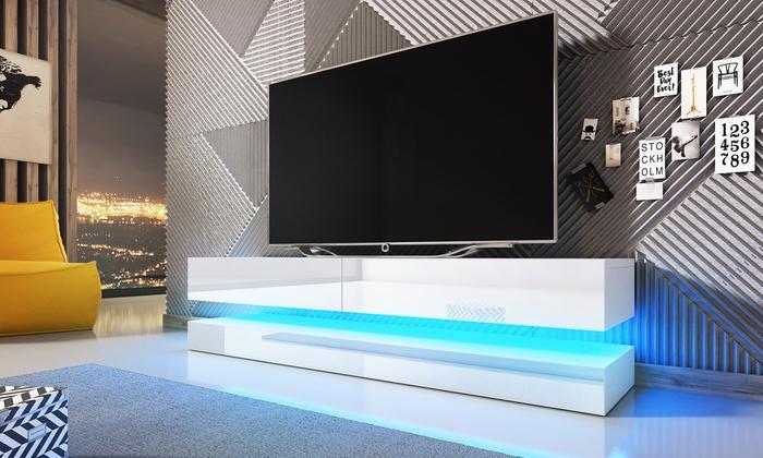 Mueble para televisi n con luz led groupon goods - Muebles de salon con luz led ...