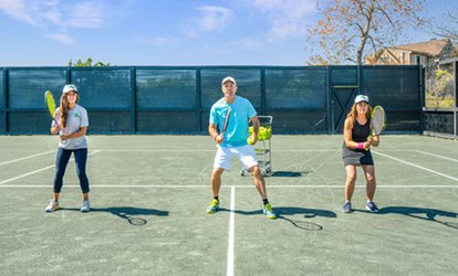 Open-Court Time, 1 or 5 Tennis Lessons, or 1, 5, or 10 Tennis Clinic Sessions at 27 Tennis (Up to 54% Off)
