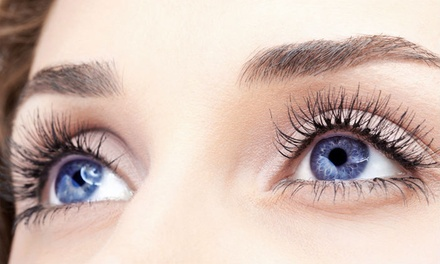 Full Set of Silk Eyelash Extensions with Optional Eyebrow Wax and Tint at Gunns and Rollers Unisex Salon (Up to 57% Off)