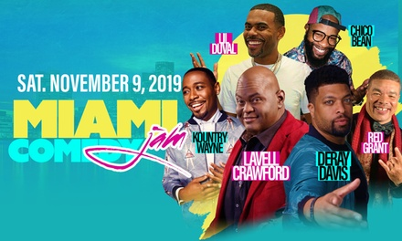 Miami Comedy Jam feat. Lavell Crawford, DeRay Davis, Lil Duval, Kountry Wayne, & More on Saturday, November 9, at 8 p.m.