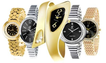 Orologio da donna con cristalli Swarovski® disponibile in vari modelli