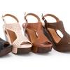 Lady Godiva Women's Open Toe Wedge Sandals