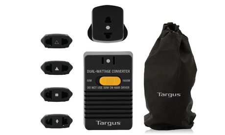 Targus Dual-Wattage International Voltage Converter Kit (7-Piece) photo