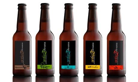 Cata de cerveza artesana para 2, 4 o 6 personas con visita guiada y picoteo desde 9,90 € en Cervezas antiga artesana