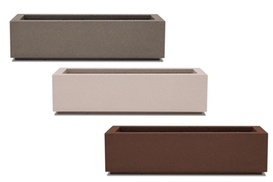 Poly-Stone Planters: Riviera Short Trough Planters at Poly-Stone Planters