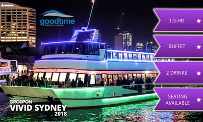 image for 90-Min Vivid Cruise with Buffet + Drinks: Mon-Thu (From $25) or Fri-Sun ($38) with Good Time Cruises (Up to $89 Value)