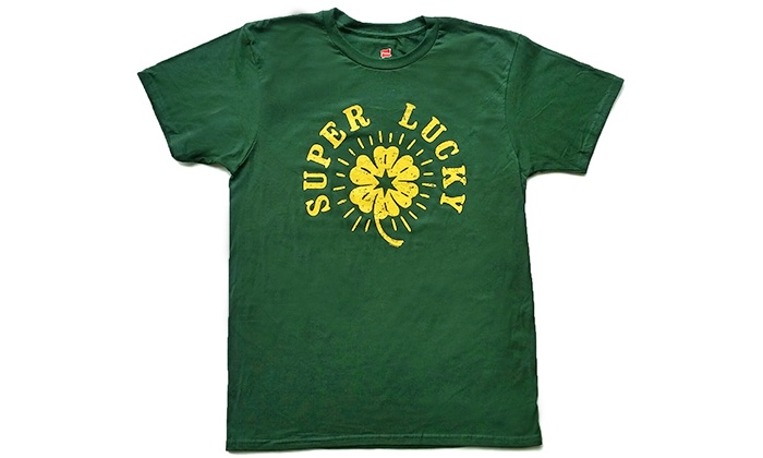 Transit Tees - Wicker Park: Super Lucky St. Patrick's Day T-shirt at Transit Tees (30% Off). Six Options Available.