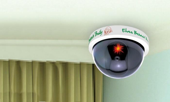 jusqu 39 70 fausse cam ra de surveillance elf groupon. Black Bedroom Furniture Sets. Home Design Ideas