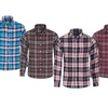 Men's Long-Sleeve Plaid Button-Down Shirt