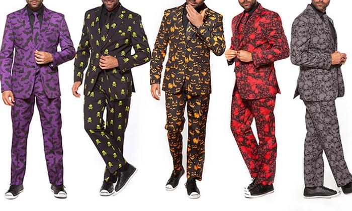 Braveman Men's Halloween Suits with Matching Tie (2-Piece)