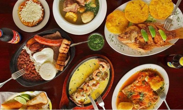 colombian cuisine el patio colombian restaurant livingsocial. Black Bedroom Furniture Sets. Home Design Ideas