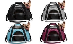 Airline-Approved Insulated Pet Tote Travel Carrier for Dogs and Cats