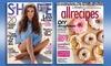 ProCirc Promotions: One-Year Subscription to <i>Allrecipes</i> or <i>Shape</i> Magazine (Up to 50% Off)