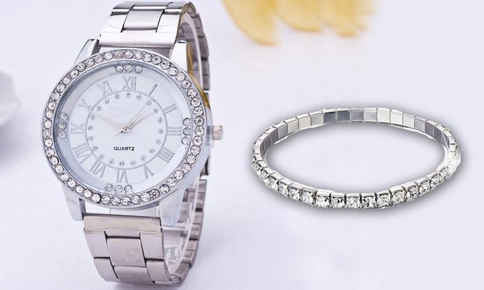 Set orologio con cristalli Swarovski®