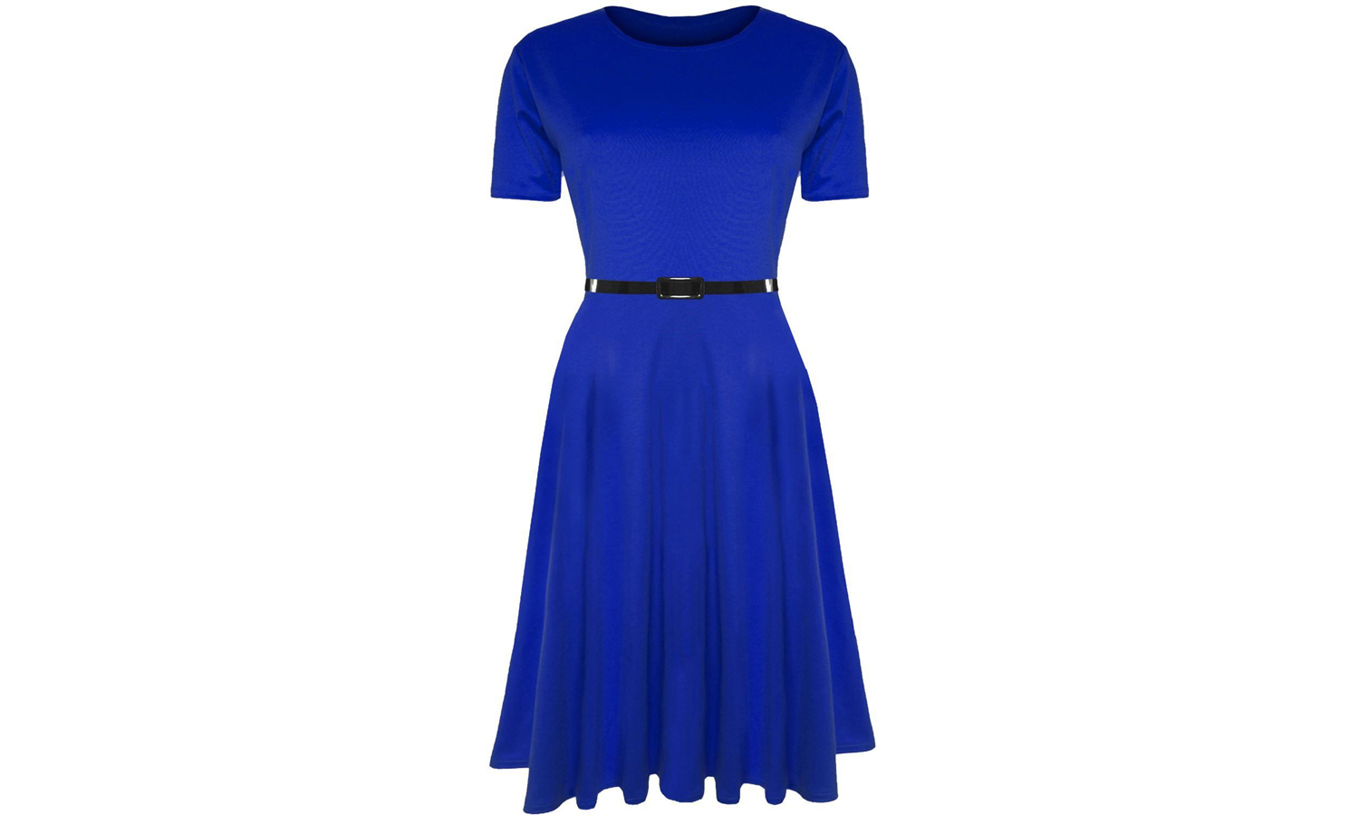 BeJealous Short Sleeve Skater Midi Dress Available Up to Size 26 From £13.99