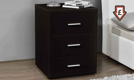 Milan Faux Leather Bedside Tables