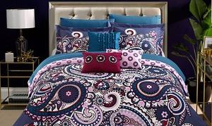 Reversible Bohemian Comforter Set with Sheet Set (10-Piece)