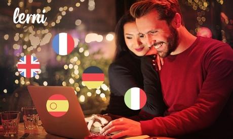 5 cursos de idiomas de 1 año para 1, 2 o 5 personas y acceso premium con Lerni (98% de descuento)