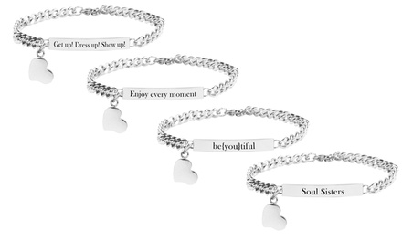 Stainless Steel Inspirational ID Bracelet by Pink Box