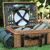 Willow Corduroy Picnic Basket for Two