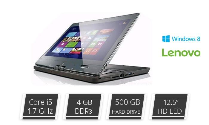 """טריילנד אינטרנשיונל בע""""מ - Merchandising (IL): מחשב נייד Lenovo עם מסך """"12.5, מעבד i5, זיכרון 4GB, דיסק 500GB ומע' הפעלה win8"""