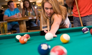 Clicks Billiards & Sports Bar: $12 for Burgers and Billiards Table TIme for Two at Clicks Billiards & Sports Bar ($32.50 Value)