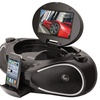 "iLive CD/DVD Boombox with iPhone Dock, 7"" LCD Display, and FM Radio"