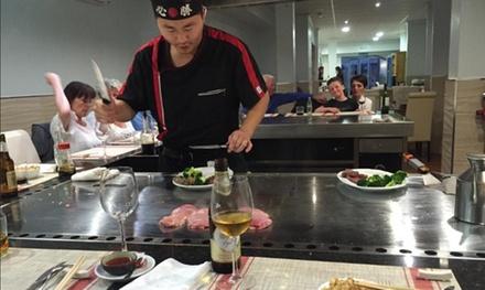 Menú teppanyaki con show cooking para 2 y 4 personas desde 19,90 € en Yutaka Teppanyaki