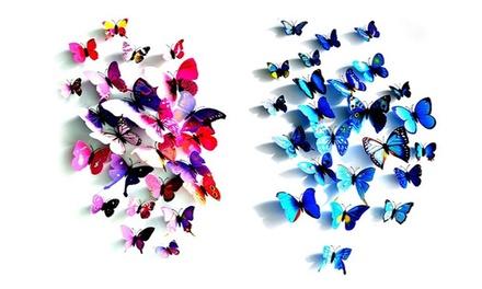 אפקט הפרפר: סט  20 יחי' פרפרים תלת ממדיים במגוון צבעים וגדלים להדבקה על הקיר. לרוכשים 3 סטים, סט נוסף מתנה!