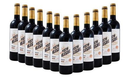 12 Bottles of Vista Alegre Rioja Crianza Wine for £59.99 With Free Delivery (53% Off)