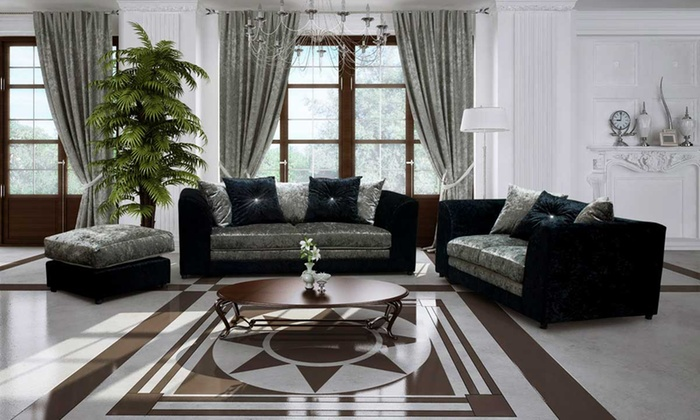 Aurora Velvet Sofa Collection from £229