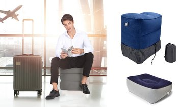 Inflatable Travel Footrest Pillow