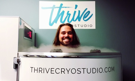 One, Three, or Five Cryotherapy Sessions at Thrive CryoStudio (Up to 47% Off)