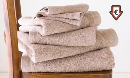 6x Spa Collection Handtuch Set aus 100% Baumwolle mit feiner Bordüre (Hamburg)