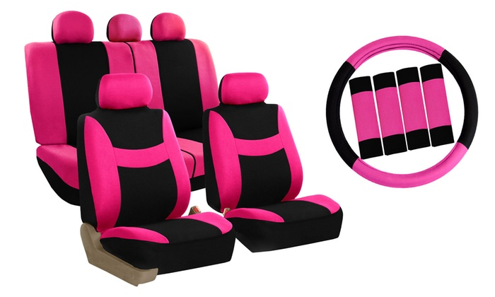 Light And Breezy Car Seat Cover Combo Set 14 Piece