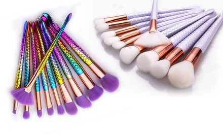 Ten-Piece Mermaid Make-Up Brush Set from £11.98