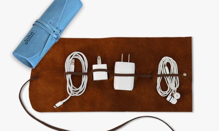 Monogrammed Genuine Leather Multi-Cord Organizer 609c4d1a660e