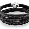 Men's Lord's Prayer Wrap Leather Bracelet