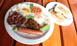 The Base Restaurant and Bar: Breakfast with a Drink from R49 for One at The Base Restaurant and Bar (Up to 48% Off)