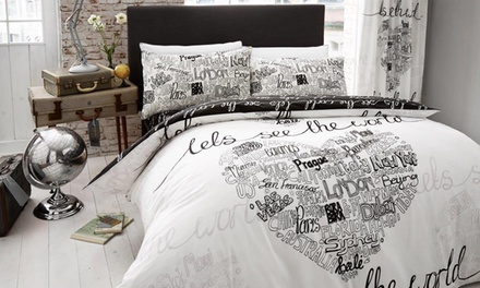 Let's See The World Duvet Sets in Choice of Size and Colour from £12.98
