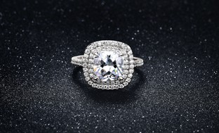 3.50 CTTW Cubic Zirconia Pave Halo Ring in 18K White Gold