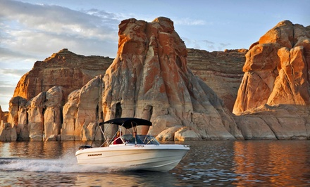 Groupon Deal: 1- or 2-Night Stay with Optional Powerboat Rental at Defiance House Lodge in Bullfrog, UT